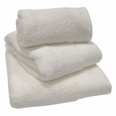 Luxury Egyptian Cotton White Hand Towel 50 x 90cm