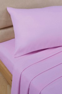 Lilac Polycotton Percale Double Flat Sheet