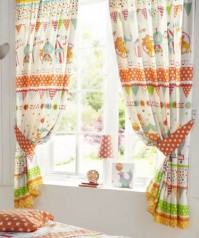 "Circus Parade Pencil Pleat Curtains 66x72""/168x183cm"