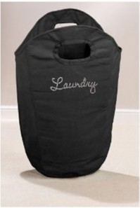 Black Diamante Laundry Bag