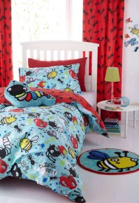 Creepy Crawlies Reversible Duvet Cover Set, Single