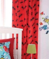 Creepy Crawlies Reversible Tab Top Curtains