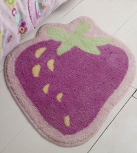 Cupcakes Strawberry Shaped Rug