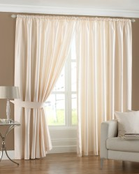 "Fiji Cream Pencil Pleat Curtains 46x54"" / 117x137cm"