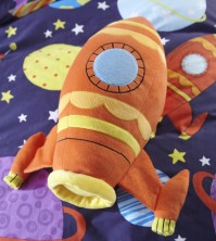 Outer Space Rocket Cushion