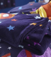 Outer Space Fleece Throw