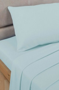 Duck Egg Polycotton Percale Single Fitted Sheet
