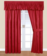 "Trocadero Red Chenille Curtains 46x72"" / 117x183cm"