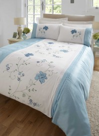 Valetta Blue Duvet Cover Set, Super King