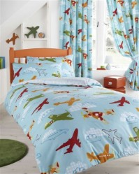 Aeroplanes Duvet Cover Set Single
