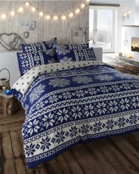 Alpine Blue Duvet Cover Set Super King