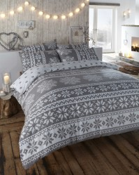 Alpine Grey Duvet Cover Set Single