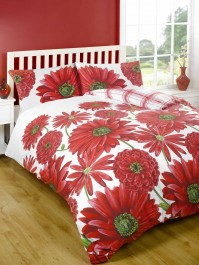 Antonella Red Duvet Cover Set - King Size