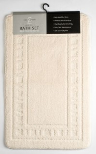 Armoni Cream Bath Mat and Pedestal Set