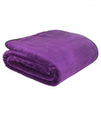 Mink Faux Fur Throw Aubergine 150x200cm