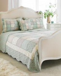 Avignon Duck Egg Blue Bedspread King Size