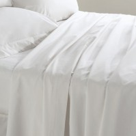 Belledorm Egyptian Cotton 200 Thread Count Fitted Sheet - White King Size