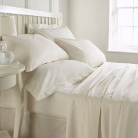 Belledorm Egyptian Cotton 200 Thread Count Flat Sheet - Ivory Super King