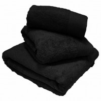 Luxury Egyptian Cotton Black Bath Towels 70 x 130 cm