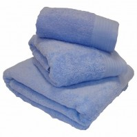 Luxury Egyptian Cotton Blue Bath Sheet 100 x 150cm