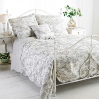 Canterbury Tales Grey Bedspread King Size 