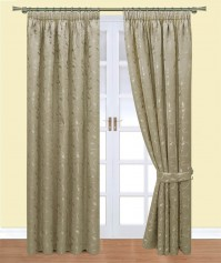 Caroline Mocha Pencil Pleat Curtains 117x137cm