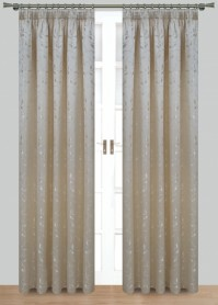 Caroline Natural Pencil Pleat Curtains 117x137cm
