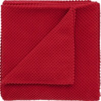 Chenille Spot Red Throw 125x180cm