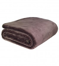 Mink Faux Fur Throw Chocolate 150x200cm 