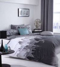 Cityscape Duvet Cover Set, King Size