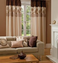 "Clarissa Chocolate Curtains 90x90"" / 230x230cm"