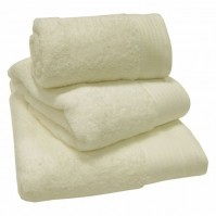 Luxury Egyptian Cotton Cream Bath Towels 70 x 130 cm