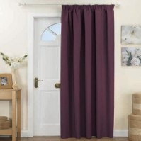 Kent Red Thermal Backed Door Curtain 168x213cm
