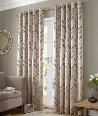 "Dalton Black Eyelet Curtains 46x54""/117x137cm"