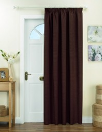 Kent Chocolate Thermal Backed Door Curtain 66x84""