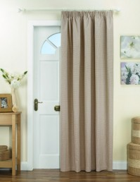Kent Natural Thermal Backed Door Curtain 66x84""