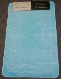 Armoni Duck Egg Bath Mat and Pedestal Set