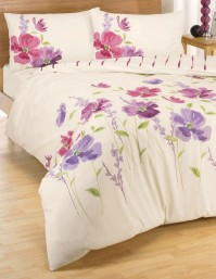 Eleanor Pink Floral Duvet Cover Set, King Size