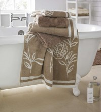 Ellie Jacquard Natural Bath Towel