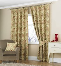 "Emile Rose Pencil Pleat Curtains 46x90""/117x229cm"
