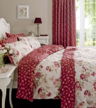 Etta Wine 300 Thread Count Duvet Cover Set - Super King