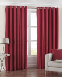 "Fiji Red Eyelet Curtains 66x72"" / 168x183cm"