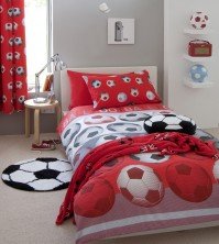 Football Red Duvet Cover Set, Single 