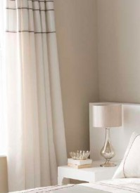 "Heat Seal Natural Pencil Pleat Curtains 66x72""/168x183cm"