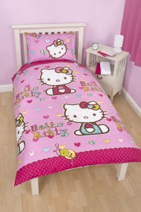 Hello Kitty Folk Duvet Cover Set, Single