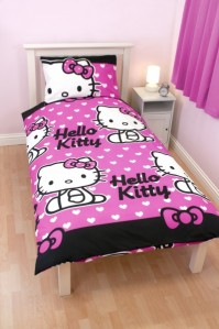 Hello Kitty Hearts Duvet Cover Set, Single