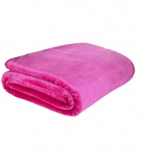 Mink Faux Fur Throw Hot Pink 150x200cm