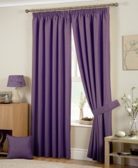 "Hudson Heather Pencil Pleat Curtains 90x54""/229x137cm"