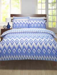 Ikat Blue Single Duvet Cover Set