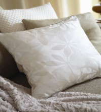 Ivory Jacquard Cushion Cover 45cm